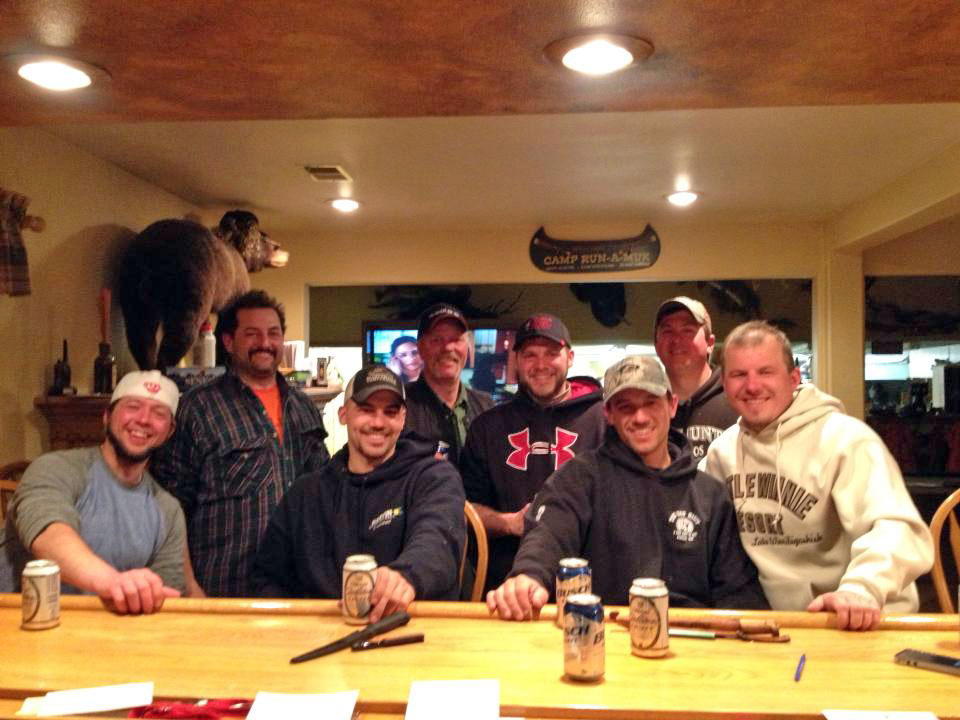 The Lodge at Little Winnie Resort is a great place to get together at the end of day of fishing or hunting.