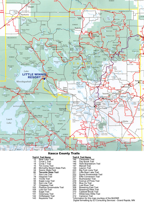 Itasca County Snowmobile Trails