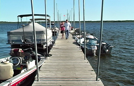 Boat Motor & Pontoon Rental at Little Winnie Resort near Deer River, MN.