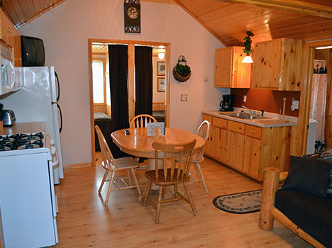 You'll find clean and comfortable cabins with all the amenities at Little Winnie Resort.