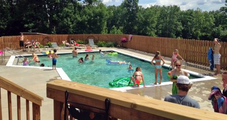 The heated pool is a favorite with guests young and old.